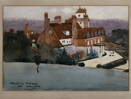 WATERCOLOUR OF STANDEN 1896 by Arthur Melville, (1858-1904)