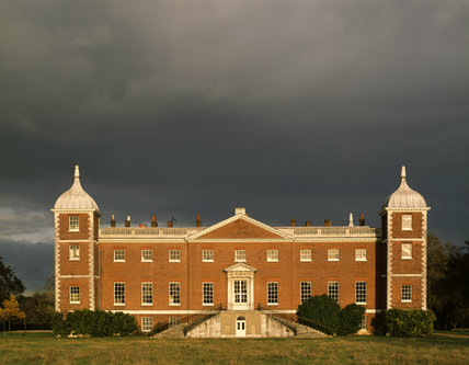 West front of Osterley Park under a stormy sky