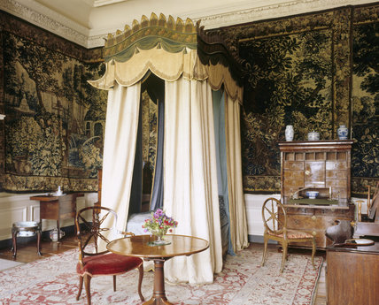 The interior of the Tapestry Bedchamber