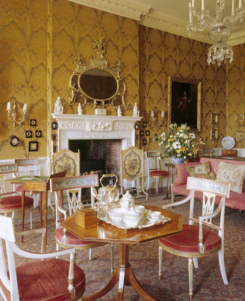 The opulent interior of the Drawing Room at Dyrham Park