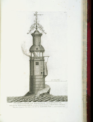 Page from John Smeaton's 'A Narrative of the Building and a Description of the Construction of the Edystone Lighthouse