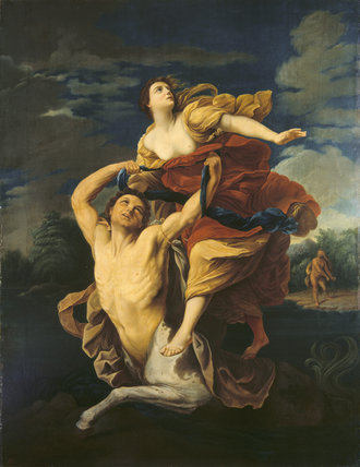 NESSUS AND DEJANIRA, Anon, after Guido Reni, at Cragside