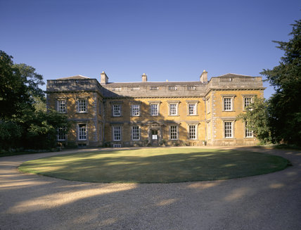The North Front and Circular Lawn at Farnborough Hall in Warwickshire