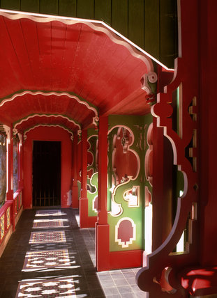 Inside the Chinese temple in Biddulph Grange Garden