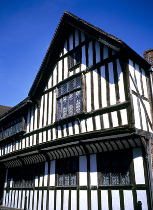 Detail of The Greyfriars, a Tudor house on Friar Street, Worcester