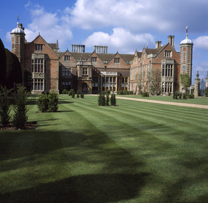 View of the East front of the Tudor house , Charlecote Park, Warwickshire