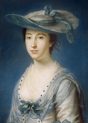 VISCOUNTESS MOLESWORTH (d. 1763), a pastel drawing by William Hoare (1706-99), in the Drawing Room at Springhill.