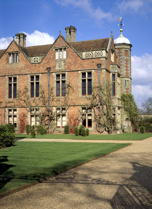 View of the Tudor house, Charlecote Park, Warwickshire, from the south-east