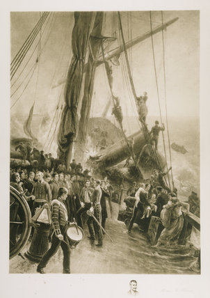 WRECK OF HMS BIRKRNHEAD - CAPE OF GOOD HOPE, FEB 26 1852 by Thomas M Perry, 1892