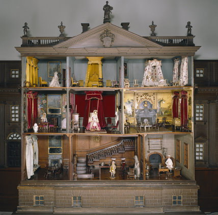 Close-up view of the Doll's House (made c. 1735)