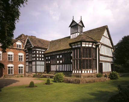View of the Great Hall at Rufford Old Hall