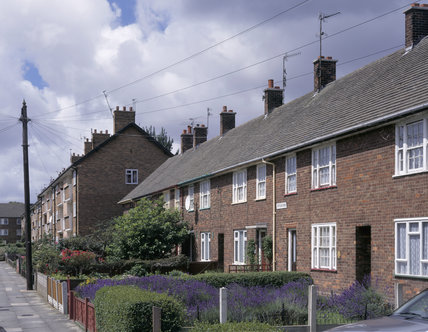 A general view of the houses in Forthlin Road, including No