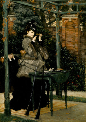 THE CRACK SHOT or THE RIFLE RANGE by James Tissot (1836-1902) from Wimpole Hall