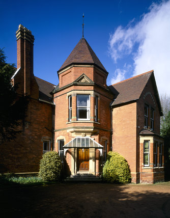 View of the south front of Sunnycroft, a late Victorian suburban villa completed in 1899