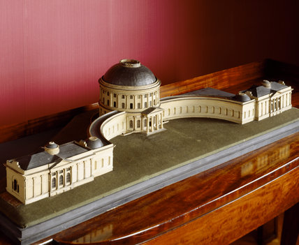 Detail of the papier mache model of Ickworth