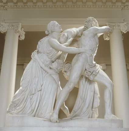 View of Flaxman's 'Fury of Athamas' commissioned by Lord Bristol in Rome in 1790