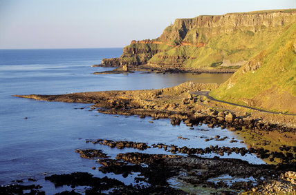 View of headlands and bays at The Giant's Causeway