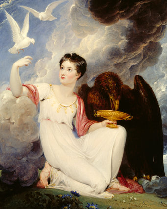 LADY OXFORD AS HEBE by Richard Westall (1765 -1836)