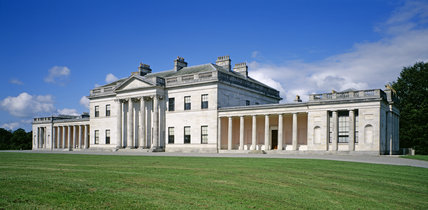 Slightly oblique view of the facade of Castle Coole
