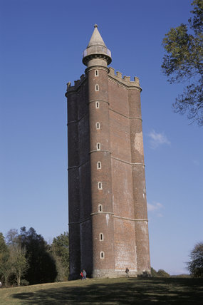 King Alfred's Tower on the Stourhead Estate built to commemorate Alfred the Great's victory over the Danes in 879