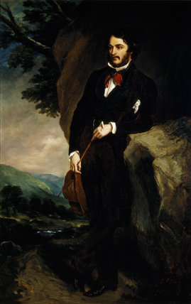 LORD JOHN MANNERS, later 7th Duke of Rutland (1818-1906) after Sir Francis Grant, P.R.A. (1803-78) at Hughenden Manor in the Garden Hall.