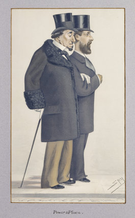 Disraeli and His Secretary, Montagu Corry, later Lord Rowton (1838-1903)