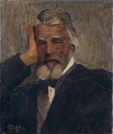 Portrait of Thomas Carlyle by Florence Carlyle, at Carlyle's House in London