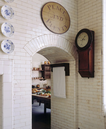 View through to the Scullery from the Kitchen at Tatton Park