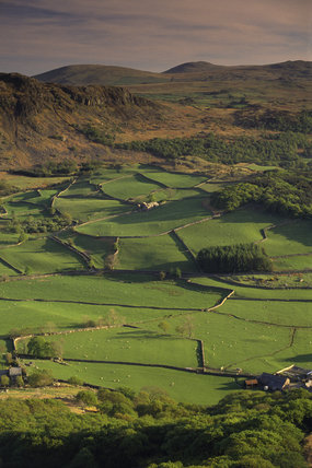 Eskdale Farm from Little Barrow, Lake District, Cumbria