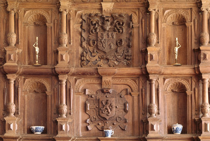 Close up of the overmantel in the Dining Room