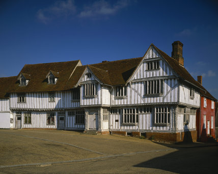 The timber-framed Guildhall of Corpus Christie at Lavenham, dating from 1529