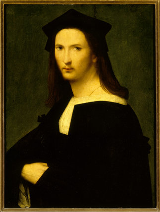 PORTRAIT OF UNKNOWN MAN by Andrea del Brescianino (1507 - 1525) in the Picture Gallery at Attingham Park