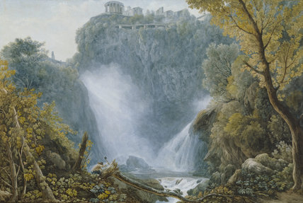 FALLS OF TIVOLI by A. L. Ducros, 1748-1810 at Stourhead.