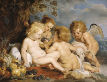 RUBENS PUTTI by William Hoare of Bath at Stourhead
