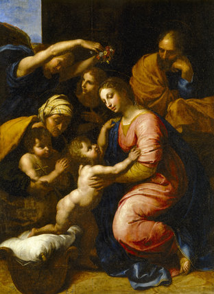 17th-century French copy of Raphael's HOLY FAMILY at Stourhead