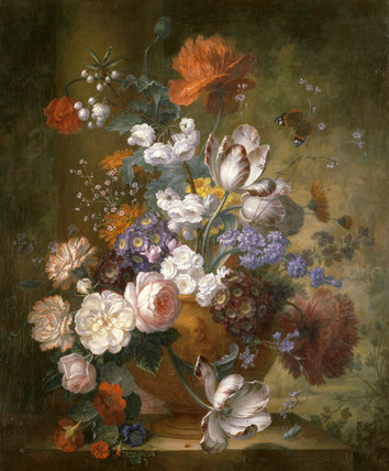 FLOWER PIECE after Jan van Huysum