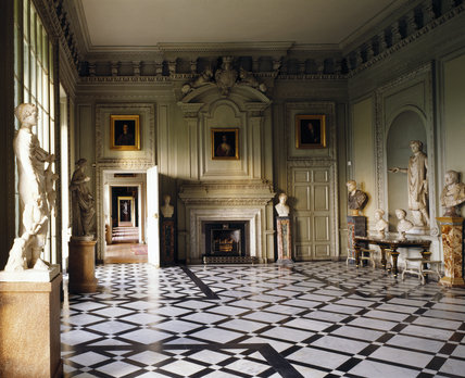 Room View Of The Marble Hall At Petworth Towards The