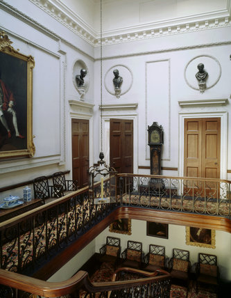 View of the Stair Hall at Felbrigg Hall