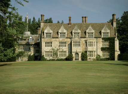 The south front of Anglesey Abbey in Cambridgeshire