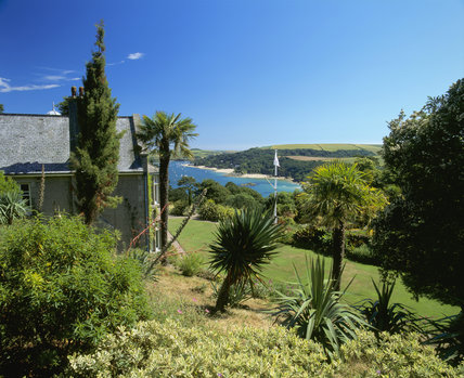 Salcombe Estuary, Devon, seen from the garden above the house at Overbecks