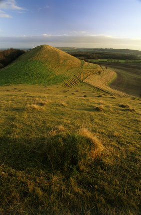 The view from Cley Hill to Little Cley Hill, Wiltshire