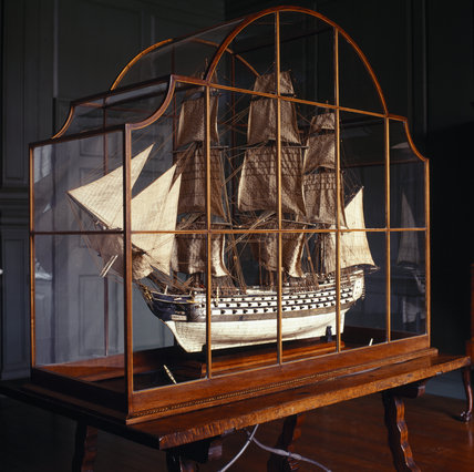 The model of a ship of the line in the Court Room of the Treasurer's House, York