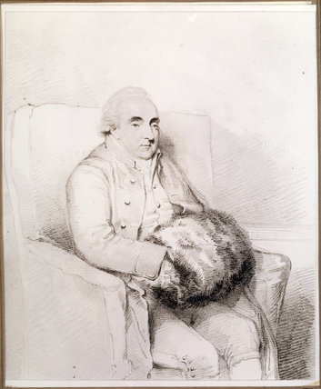 A drawing of Thomas Harley (1730-1804), builder of the house, in the Business Room