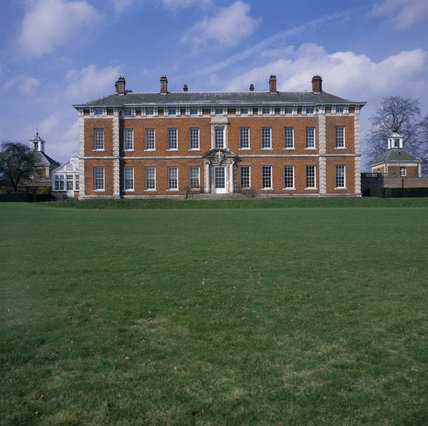 View showing Beningbrough Hall the garden front facing South