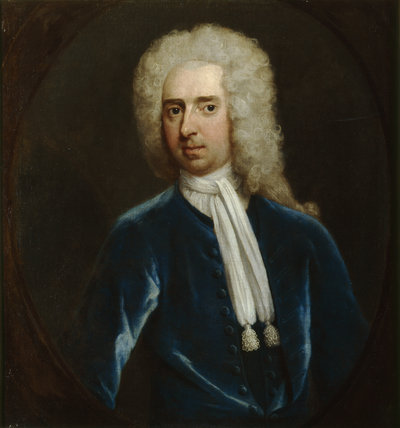 SIR JOHN DUTTON, 2ND BT (1684-1743) painted in the manner of Enoch Seeman