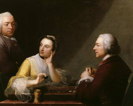 THE BACKGAMMON TRIO attributed to Robert Edge Pine