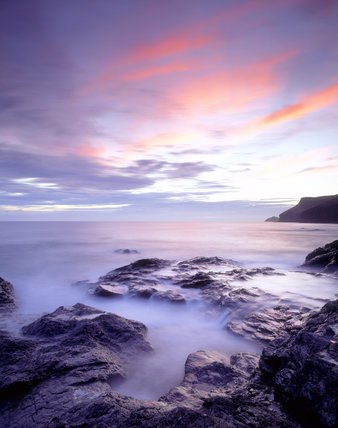 View looking towards Pentire Head from Polzeath taken at twilight