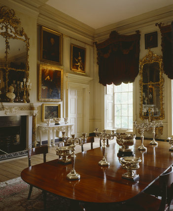 The square dining room at Petworth House