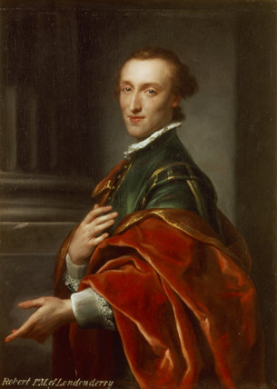 1ST MARQUESS OF LONDONDERRY at Mount Stewart House painted by Anton Raphael Mengs (1728 - 1779)