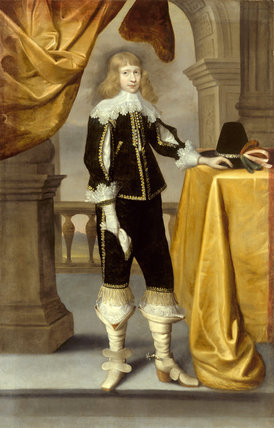 PORTRAIT OF A YOUNG CAVALIER, English 17th-century possibly Edward Bowar, from Treasurer's House, York